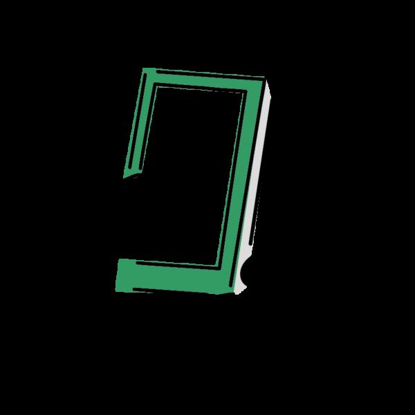 緑のスマホ