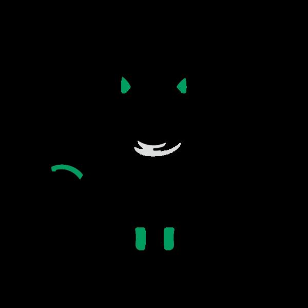 耳の緑な猫