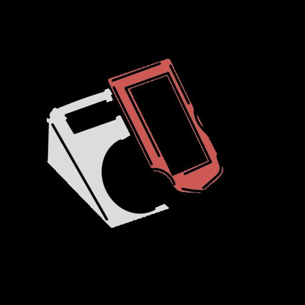 電子決済のイラスト(タッチ式)